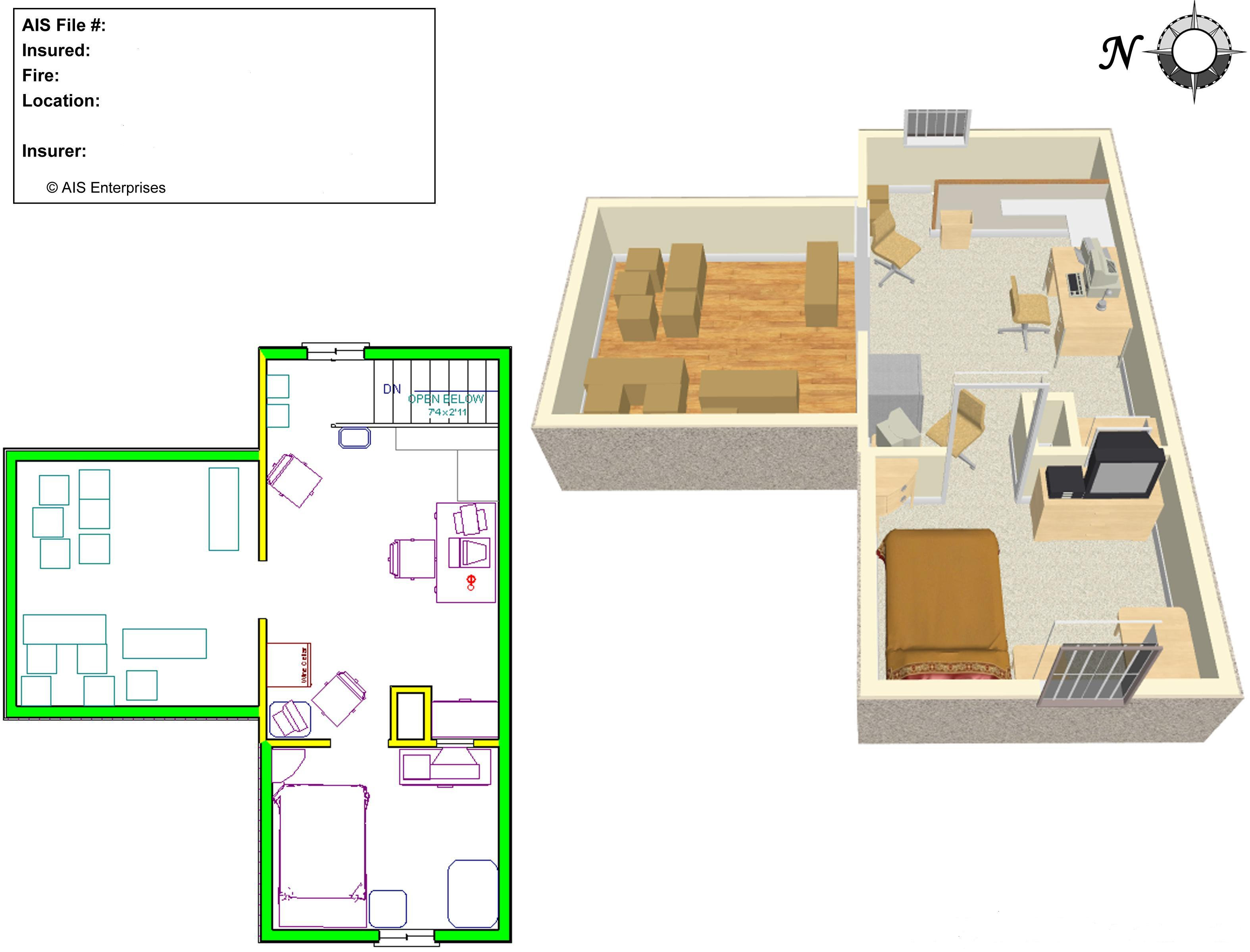 sample plan drawings - 3d Plan Drawing